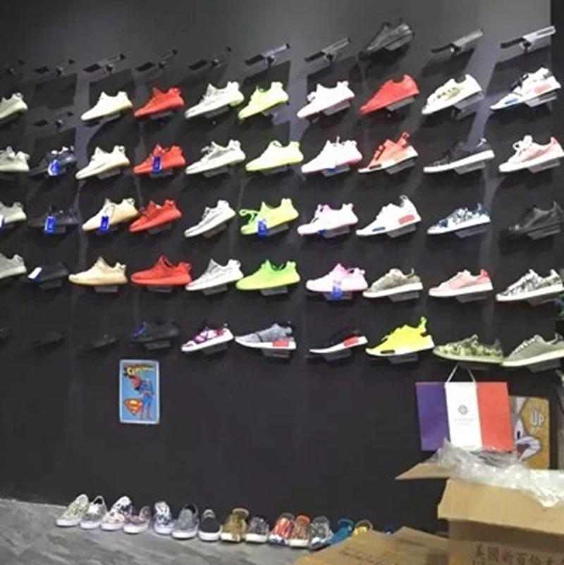 Shoes Display Stand for Shoe Stores Sneaker Casual Rack Shoes on the Wall Display Showing Holder Shelf