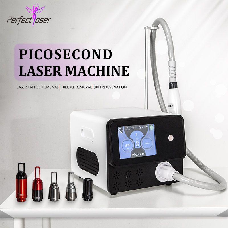 Picosecondo laser 755 Portable Nd Yag Lazer tatuaggio del dispositivo di rimozione dei Laser Speckle Freckles di rimozione Spot Togliere picosecondo Apparecchiatura di bellezza