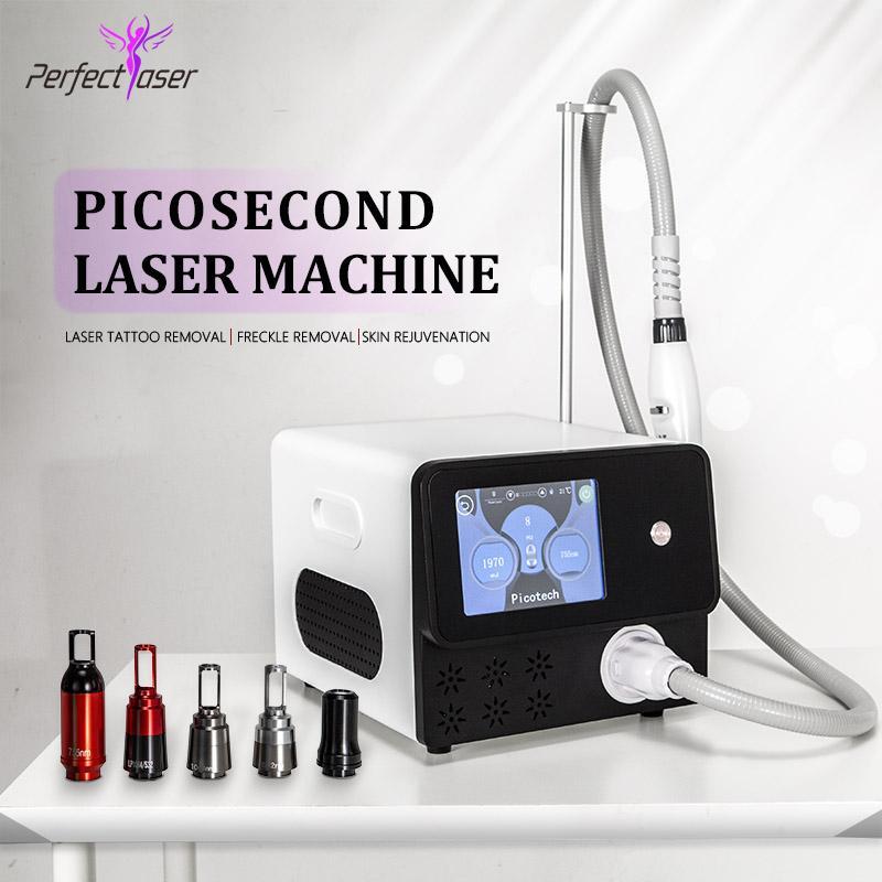 Picosegundo láser portátil eliminación del dispositivo 755 Nd Yag Laser Speckle Lazer tatuaje Pecas Manchas de eliminación Eliminar picosegundos equipo de la belleza