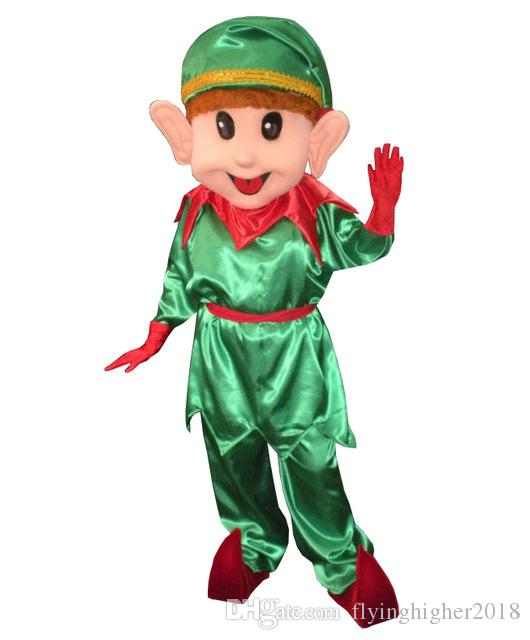 High Quality Professional Custom Lovely Christmas Elf Mascot Costume Character Green Boy  Mascot Clothes Christmas Halloween Party Fancy Dress Gator Mascot Costume  Full ...