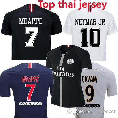 great fit 46fbc 0e35b Top quality psg 3rd blue home away Champion black white Soccer jerseys 2018  2019 Maillot de foot MBAPPE Jersey 18 19 football shirt