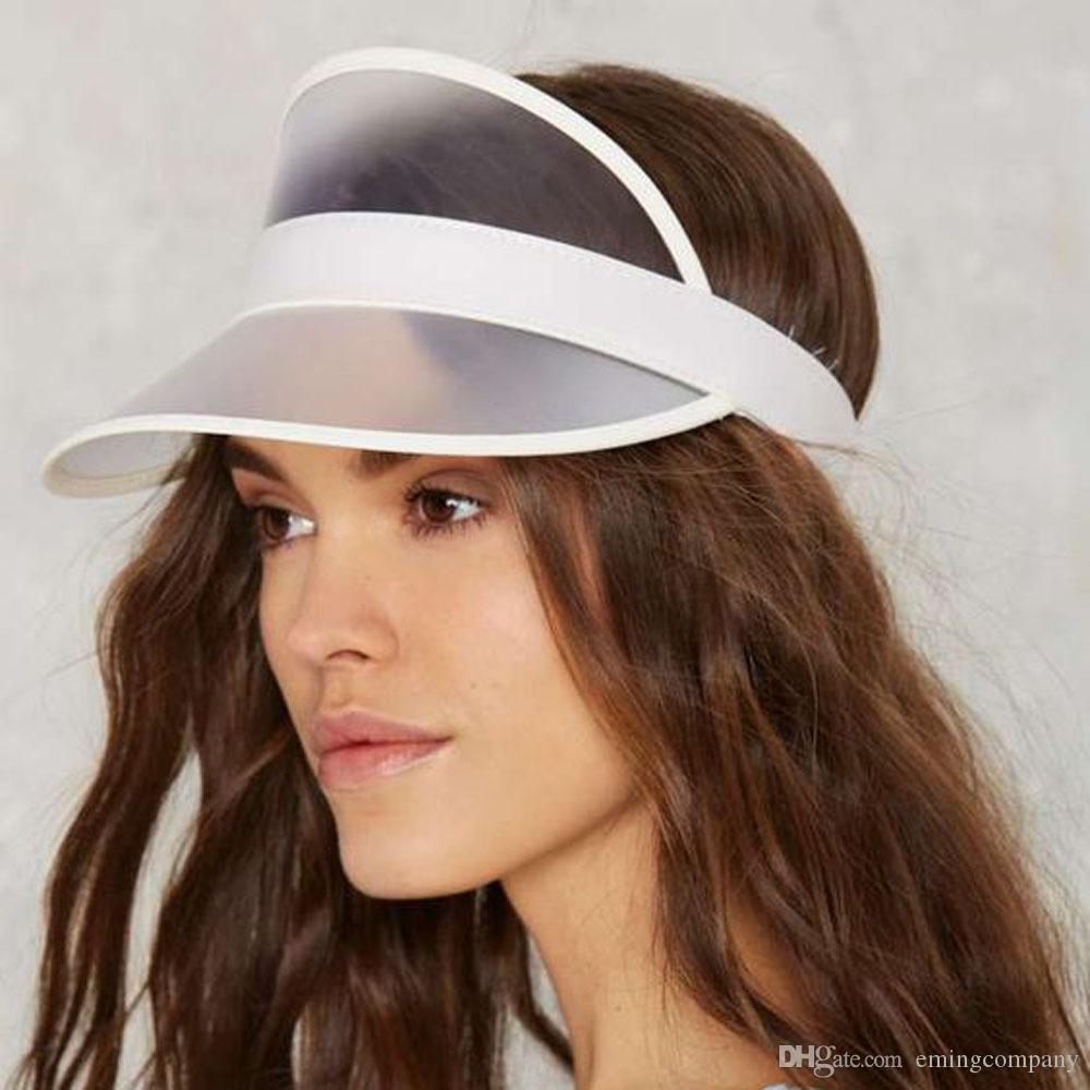 2b4351451d9 Designer Sun Hats PVC Visor For Adlut Women Men Sports Golf Hats UV ...
