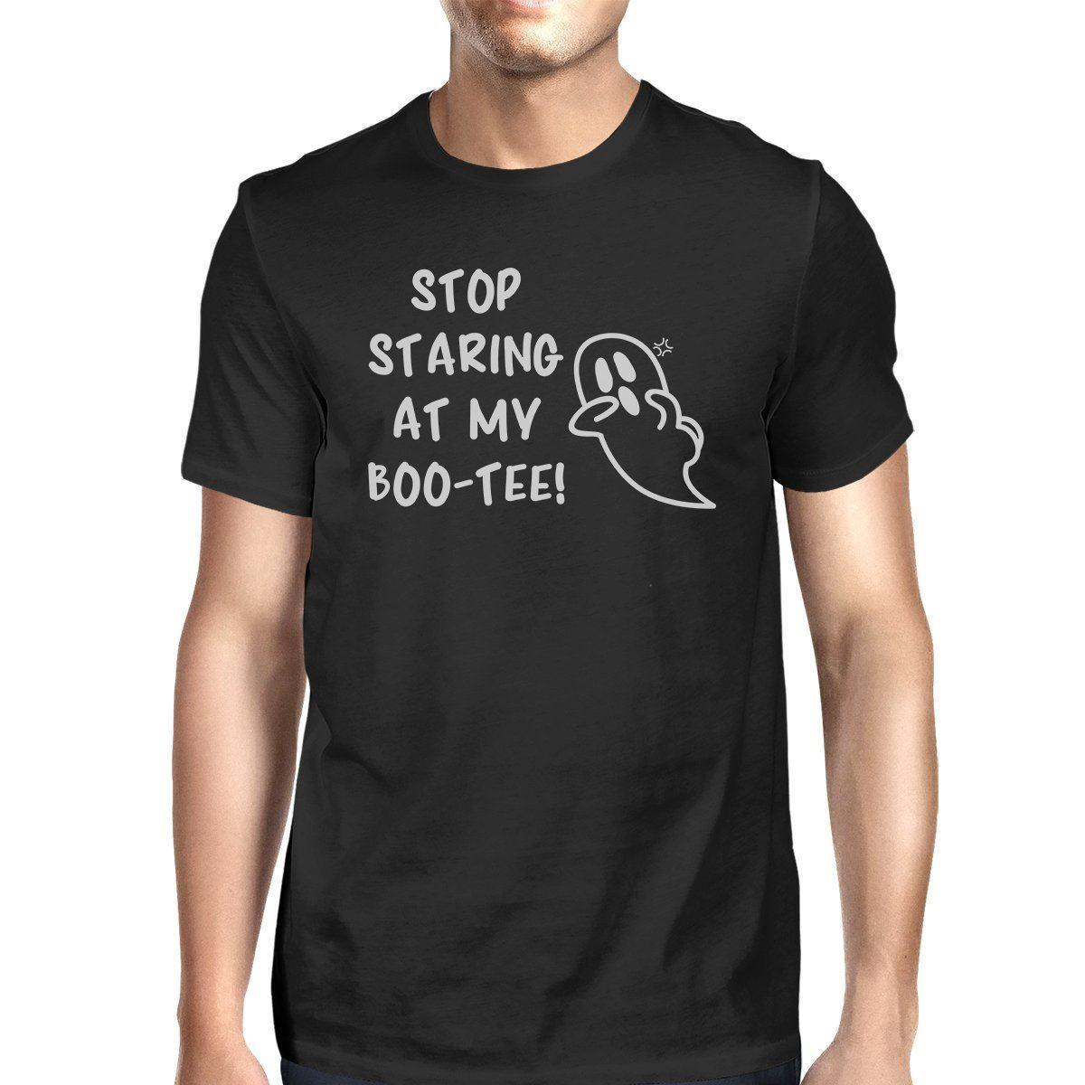 5d8a347981f09 Stop Staring At My Boo-Tee Ghost Mens Black Shirt