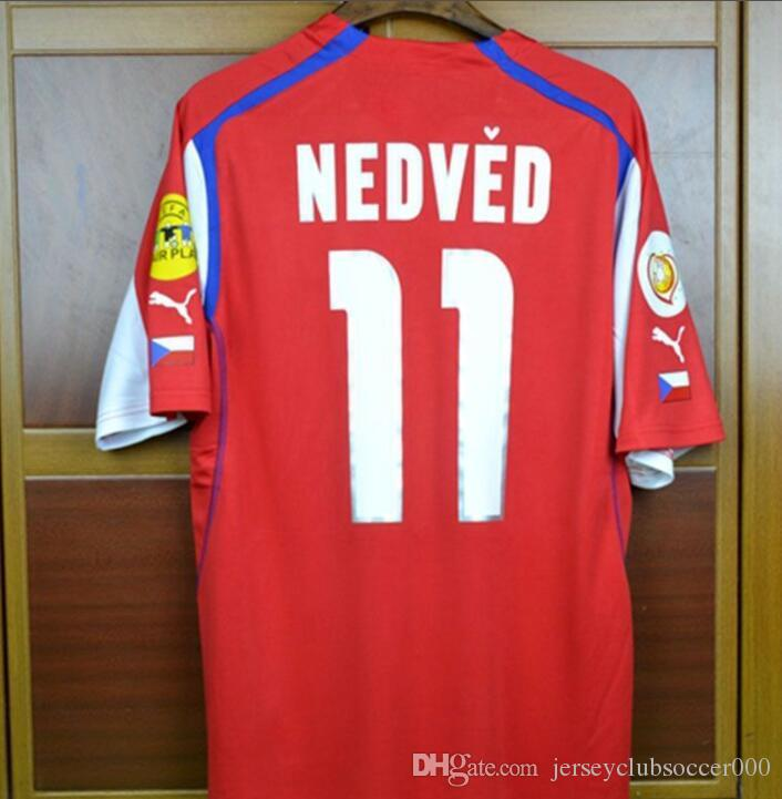 a541f73d6 2019 04 Czech Republic Retro Soccer Jersey Pavel Nedved Champions Mens  Football Shirts 2004 Czech Classic Uniforms Kit Camiseta From  Jerseyclubsoccer000