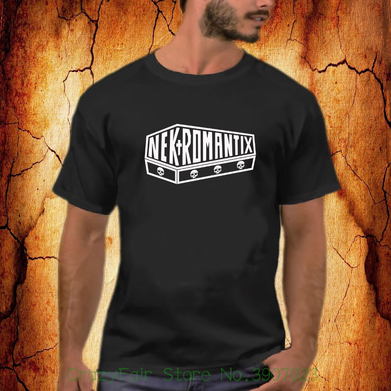 c38f772955cb3b Nekromantix Rock Band Logo Black T Shirt S 2xl Top Tee 100% Cotton Humor Men  Crewneck Tee Shirts White Designer T Shirts Clever T Shirt From Jie030, ...