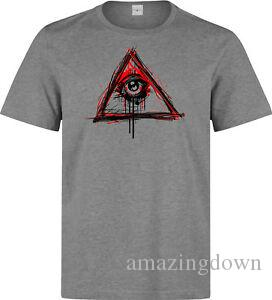Illuminati All Seeing Eye NWO Orologi New World Order uomo 039 s grigio t
