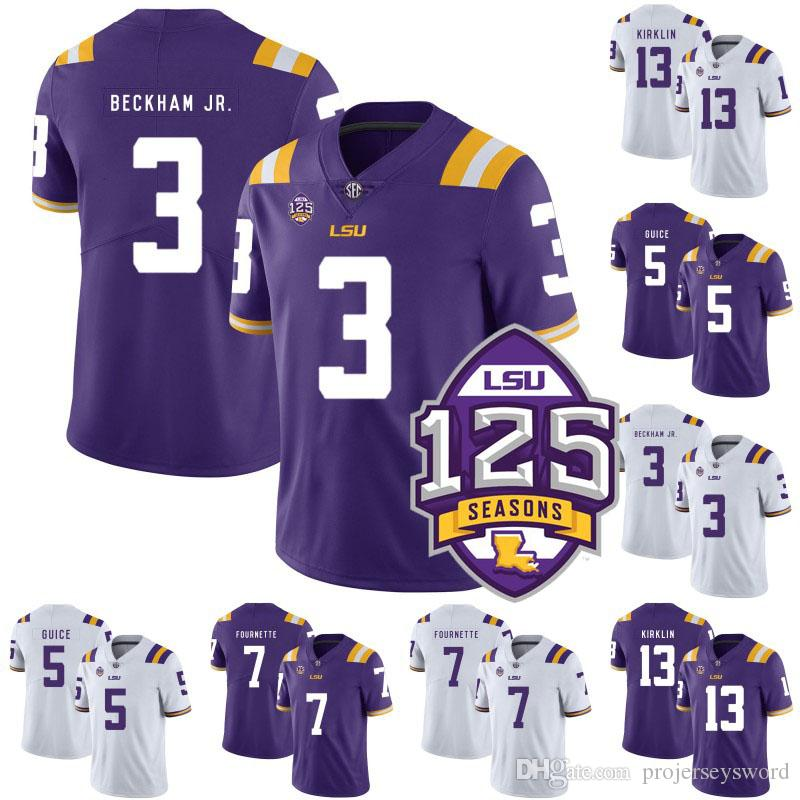 premium selection 746f2 bf15b Mens LSU Tigers NCAA College Jersey 3 Odell Beckham Jr. 7 Patrick Peterson  8 Zach Mettenberger 33 Todd Harris jr. Football Jerseys