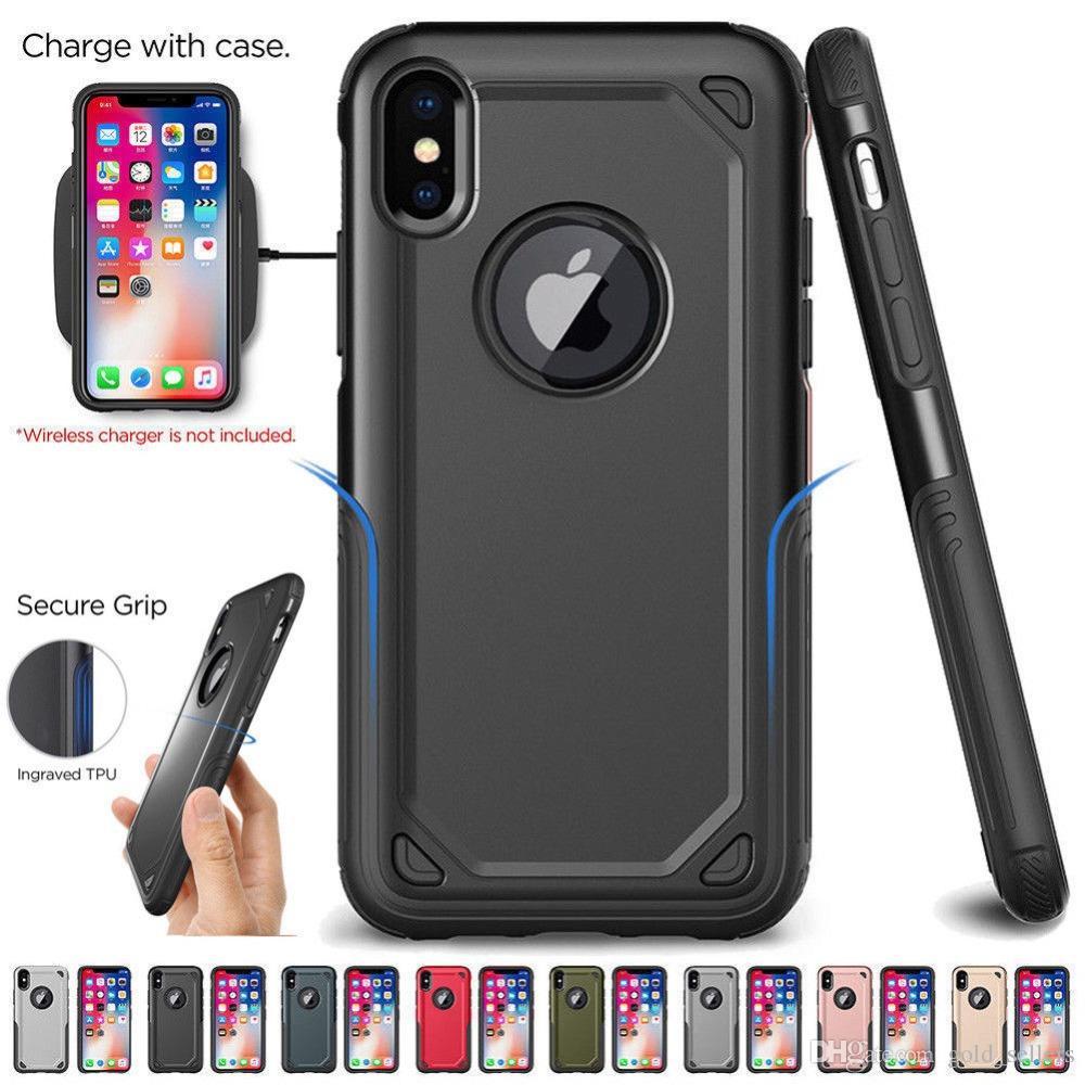 the best attitude de383 d8ae5 Tough Armor Phone Cases Cover for iPhone X XS Max XR 8 7 6s Plus 5s 5 SE  Samsung Galaxy S10 S9 S8 Plus S7 Edge Note 9 8 Hybrid TPU PC Case