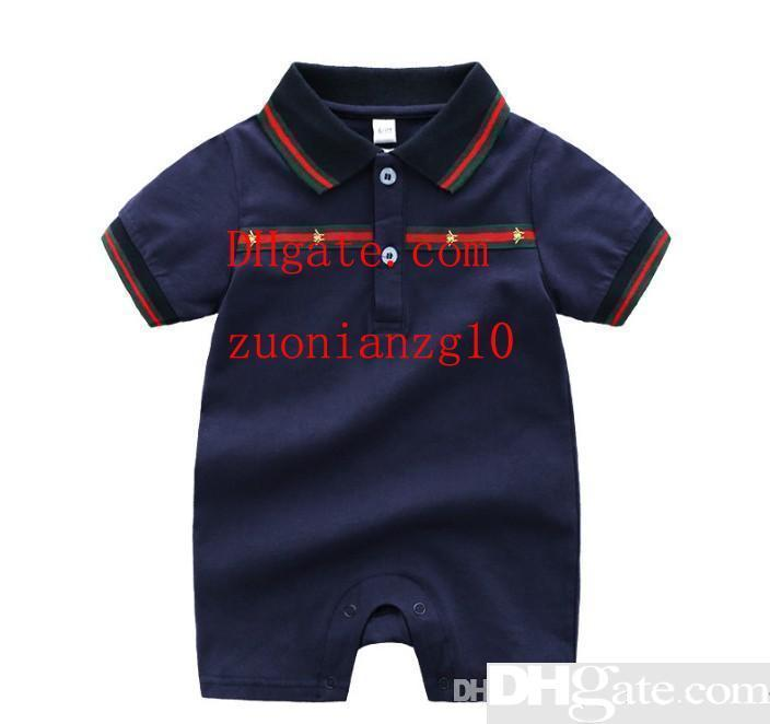 girl boy Clothes Rompers Suit Summer black lapel Romper Onesies newborn baby boy clothes top quality baby clothes TG-6
