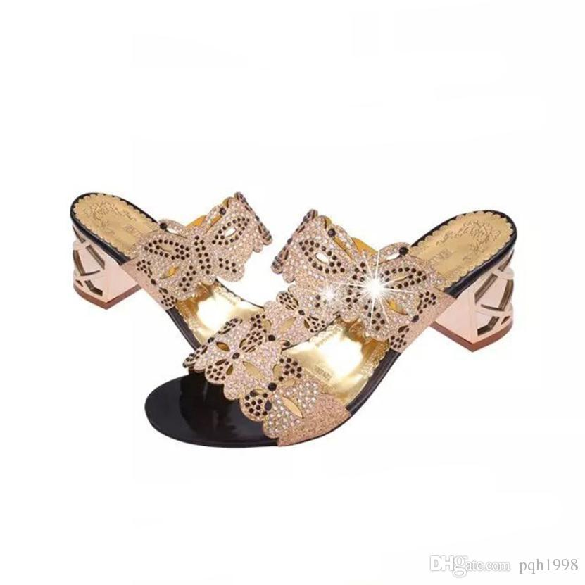 2019 Mokingtop Women Sandals Women Rhinestone Sandals Fashion Open Toe  Shoes Bohemia High Heel Shoe Sandals Summer From Pqh1998 3e4cc7cacb26