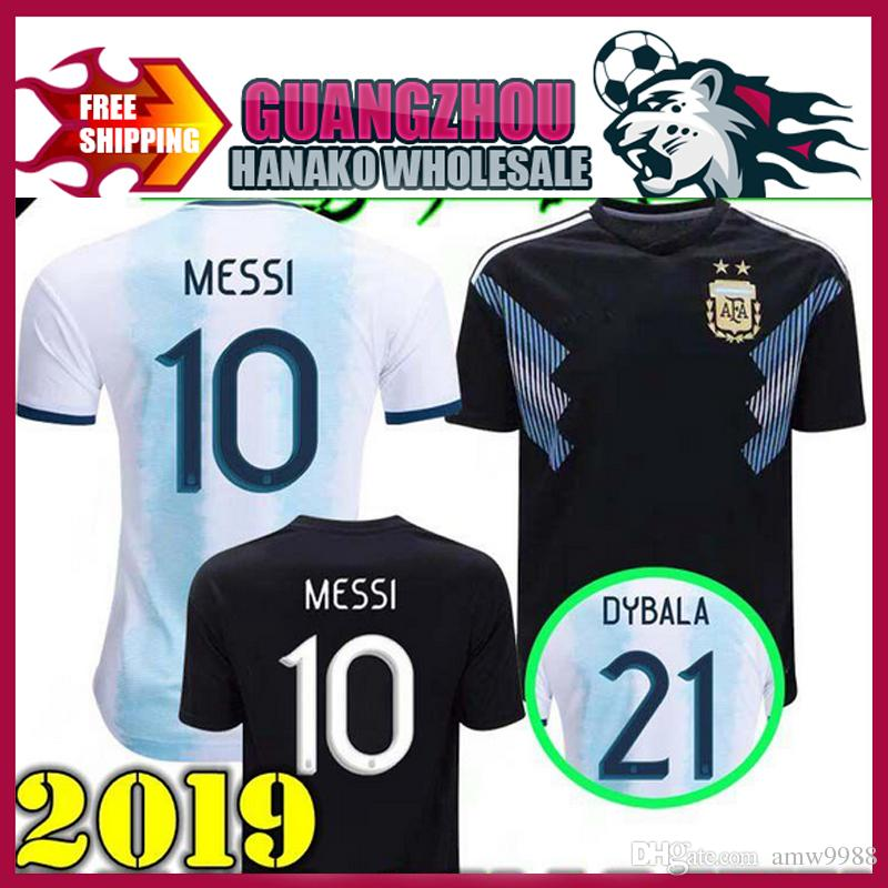 82283856116 2019 Argentina 2019 Copa America Soccer Jersey Home Blue White Soccer Shirt  Messi Dybala AGUERO Football Uniform From Amw9988