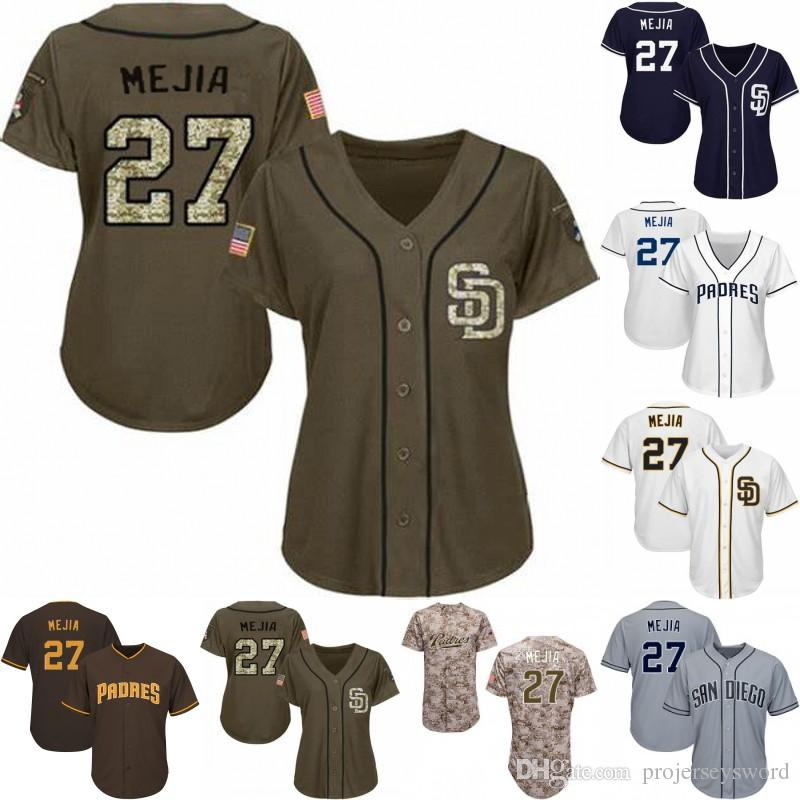 newest 18186 dd3b0 Womens #27 Francisco Mejia Jersey San Diego Best Seller Francisco Mejia  Padres 100% Stitched Baseball Jerseys Free Shipping