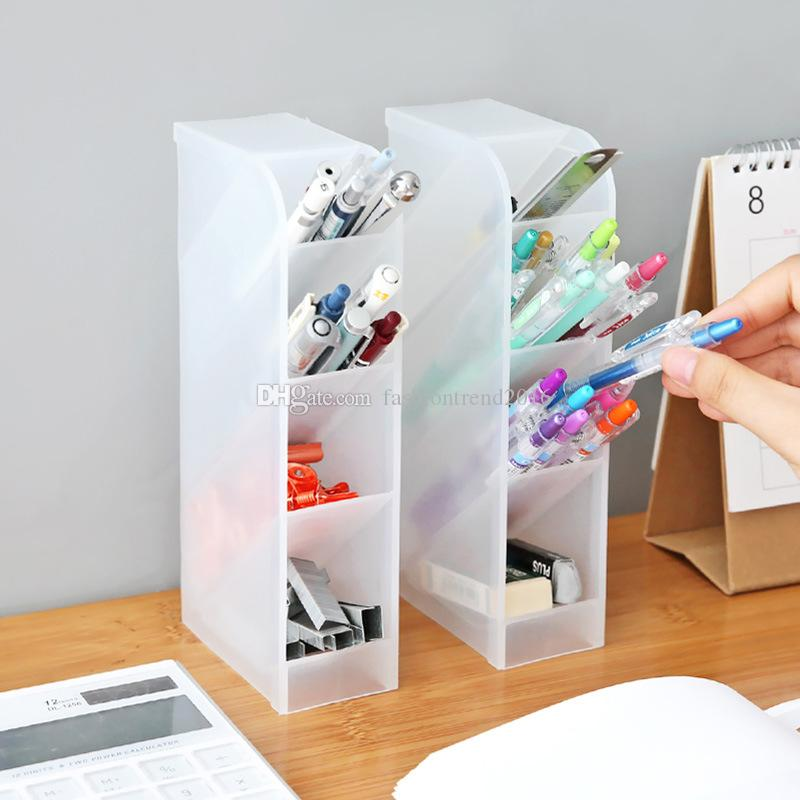 4 strati Holder Cancelleria Storage Box matita della penna Office Desktop Organizer