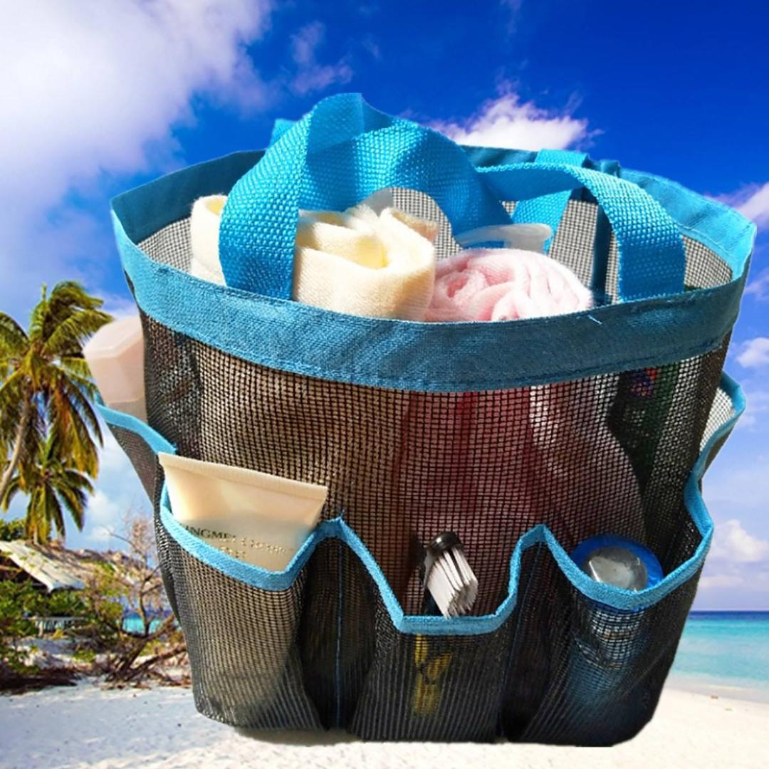 Summer Beach Bag Women Handbag Mesh Swim Bag Small Storage Package Beach Toy Packing Totes For Women Kids