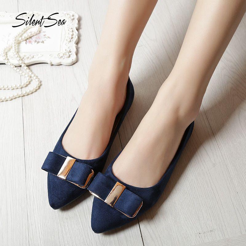 2c06587fd7e13 Silentsea Summer 2019 Women Shoes Women Bow Tie Designer Flats Shoes ...