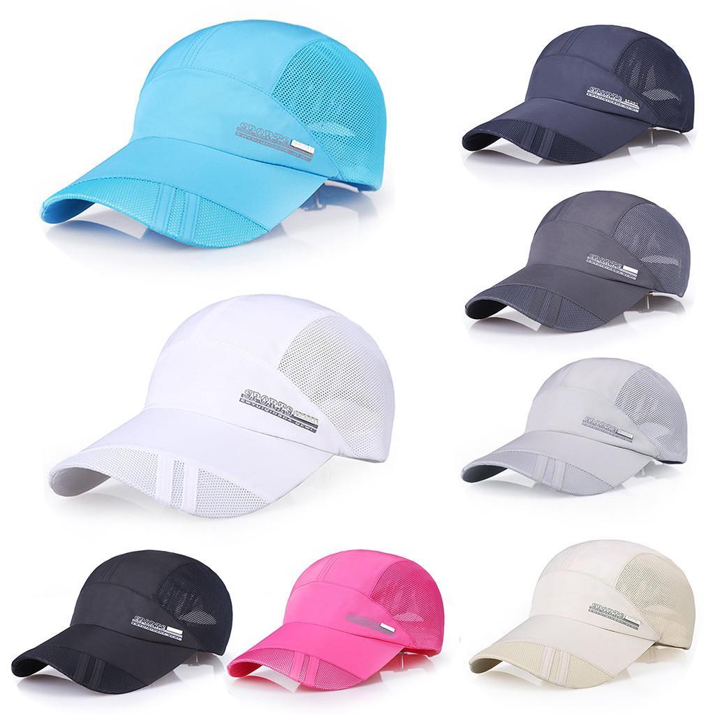 Outdoor Sport Running Baseball Mesh Hat Men Quick-drying Summer ... f7893a61d606