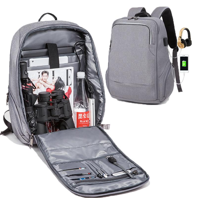 0230fb533f Multifunction Usb Charging Backpack Men 15.6 Inch Business Laptop Backpack  Anti Theft Waterproof Travel Male Backpack Fully Open Mens Backpacks Swiss  Army ...
