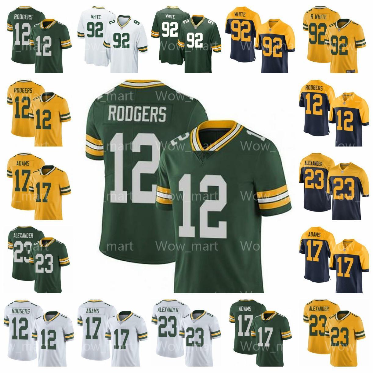 buy online da548 b790a 23 Jaire Alexander Mens Women Youth Kids Green Bay Packer Jersey 12 Aaron  Rodgers Davante Adams Reggie White Feb Football Jerseys