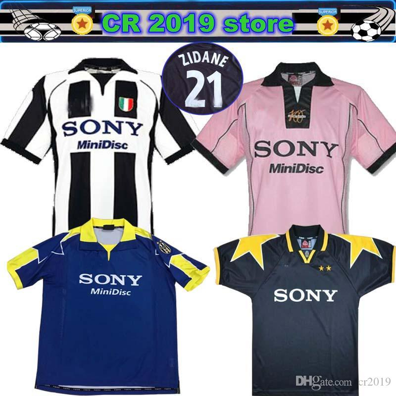 new style 9e8a0 4e6fd 1997 98 Juventus ZIDANE RETRO SOCCER JERSEYS DEL PIERO JERSEY INZAGHI  Deschamps FOOTBALL SHIRTS 120th anniversary Long sleeve 95 96 third