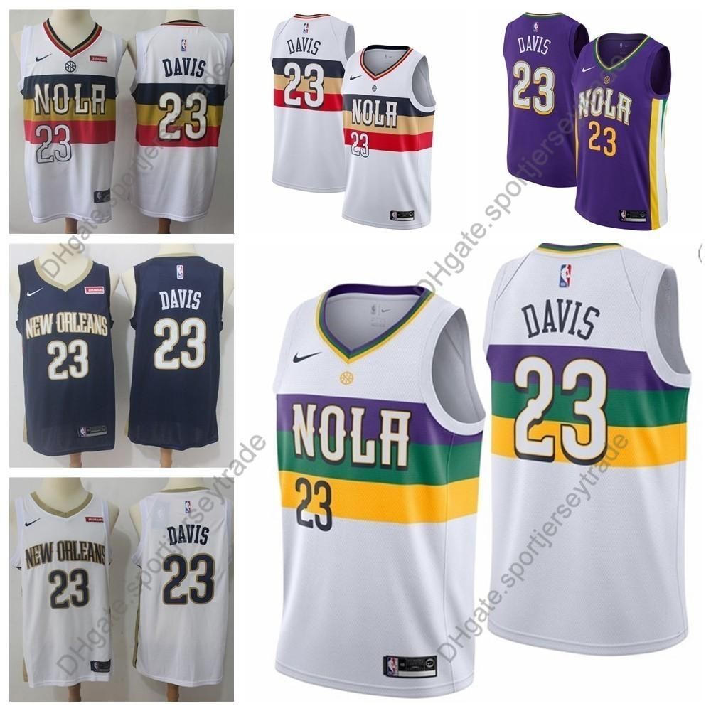 2019 Earned Mens 23 New Orleans Anthony Davis Pelicans Edition Basketball Jerseys City Anthony Davis Edition Top Quality Stitched S Xxxl