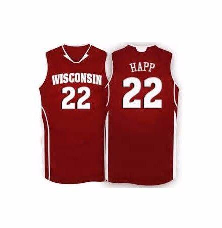 ea8aba453a2e 2019 Wisconsin Badgers   24 Bronson Koenig Stitched Basketball Jersey 22  Ethan Happ Jersey Custom Any Size Name And Number XS 6XL Vest Jerseys From  ...