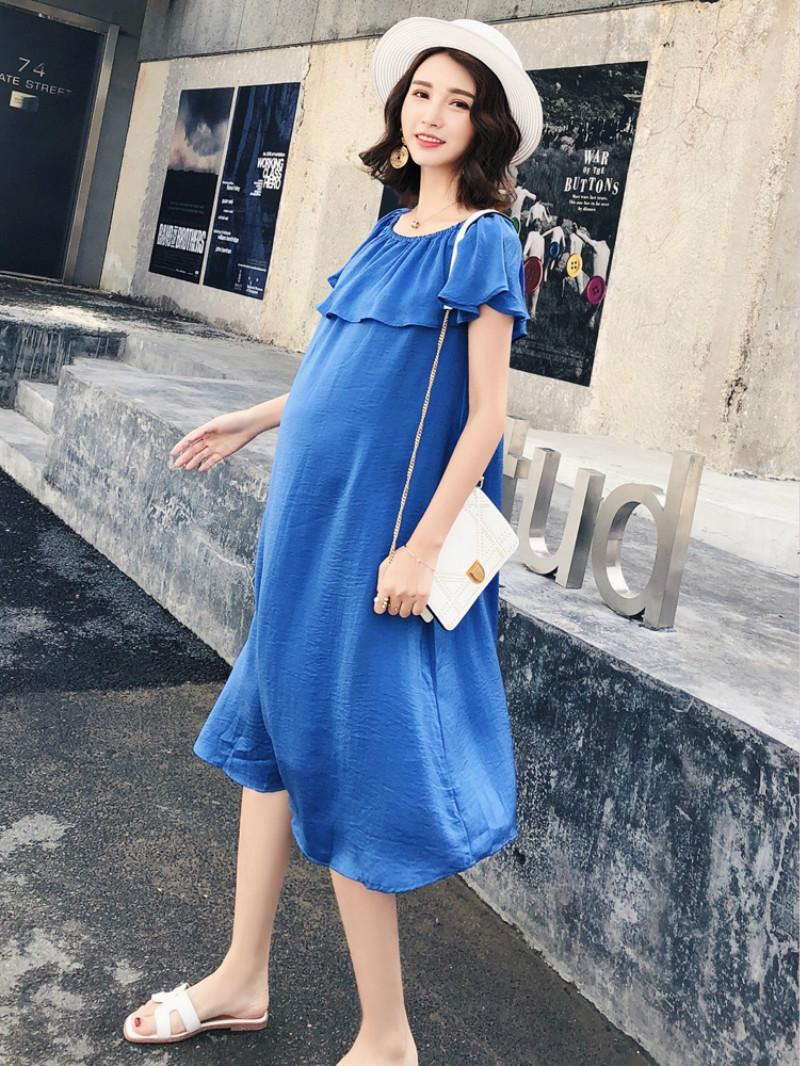 f39f353052f 2019 2018 Fashion Maternity Dress Short Sleeve Maternity Dresses Summer Pregnant  Dress Clothes For Pregnancy Photo Shoot From Babymom