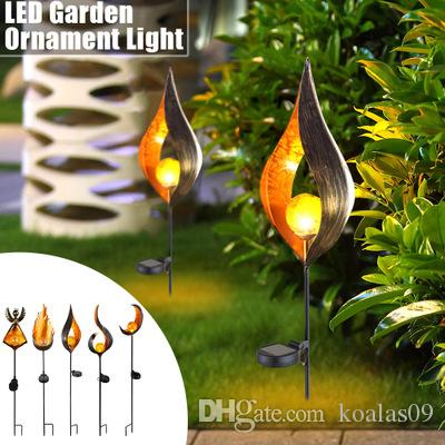 Led Flamme Lampe Solar Boden Lichter Wasserdicht Rasen Lampe Garten Dekor Outdoor Hof Szene Ornamente Solarbetriebene Weg Lichter