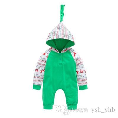 39e736f6863fc Acheter Nouveau Né Bébé Mode Combinaison Bébé Barboteuse En Coton Pyjama De Noël  Body Costume Enfants Vêtements Tenues 0 18 M Tout Petit De  6.04 Du Ysh yhb  ...