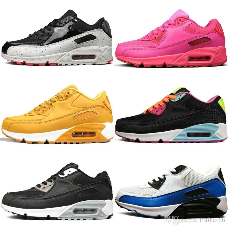 c57b2c2e1c2c 2019 90 Running Shoes Triple Black White Infrared Black Croc LEATHER  LEATHER Designer Mens Womens Trainer Sports Athletic Sneakers 36 45 From  Trainer66