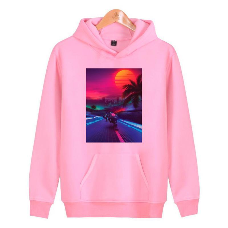 8f8f9a3c2ca00 2019 Retrowave Autumn New Pink Hoodies Men 2019 Fashion Long Sleeve ...