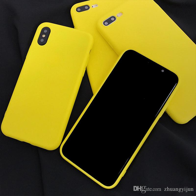 iphone 8 coque jaune