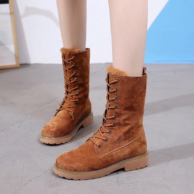 nouveau style 87a29 a85d8 womens winter shoes platform boots booties woman 2018 botte femme snow boat  lady biker quilted female martens lace 2019 brand