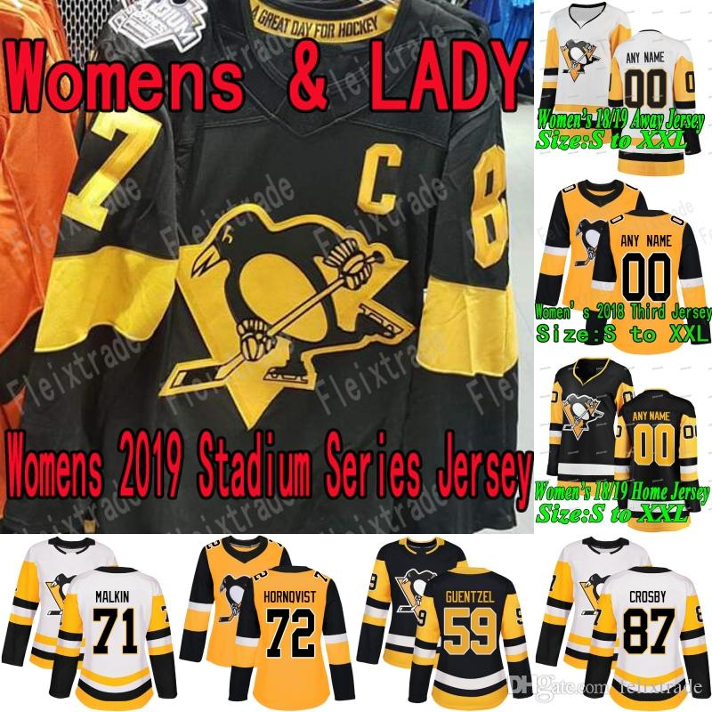e1826045953 2019 Womens Pittsburgh Penguins 2019 Stadium Series Jersey Sidney Crosby  Jake Guentzel Evgeni Malkin Casey DeSmith Kris Letang Bryan Rust Simon From  ...