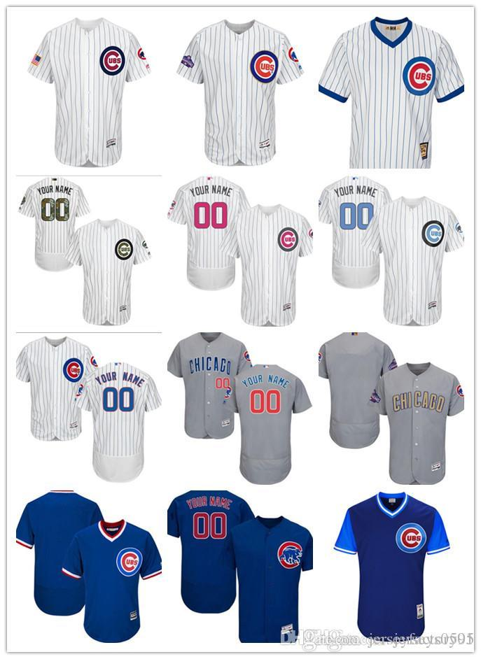 9ab845c8347 2019 Custom Men s Women Youth Majestic Chicago Cubs Jersey Any Your ...
