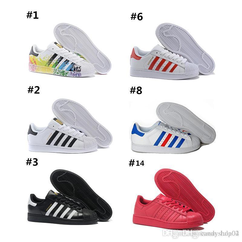 super popular 82aaf 6844c Superstar Original White Hologram Iridescent Junior Gold Superstars  Sneakers Originals Super Star Women Men Sport Running Shoes 36 45 Navy Shoes  Blue Shoes ...