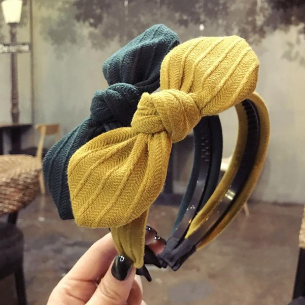 Apparel Accessories Knot Cross Tie Solid 1 Pc Fashion Hair Band Hairband Knitted Rib Girls Bow Hoop Hair Accessories Velvet Twist Headband