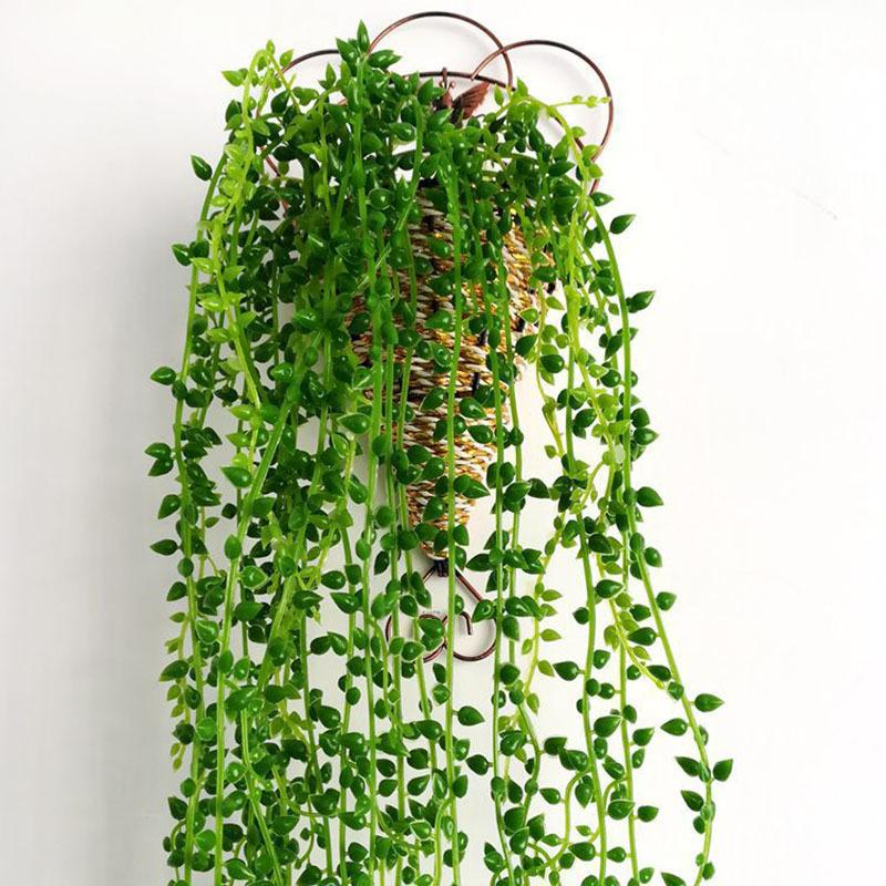 Lover Tears Succulent Artificial Plants Pearls Fleshy Green Vine Hanging Rattan Flowers Festive & Party Supplies