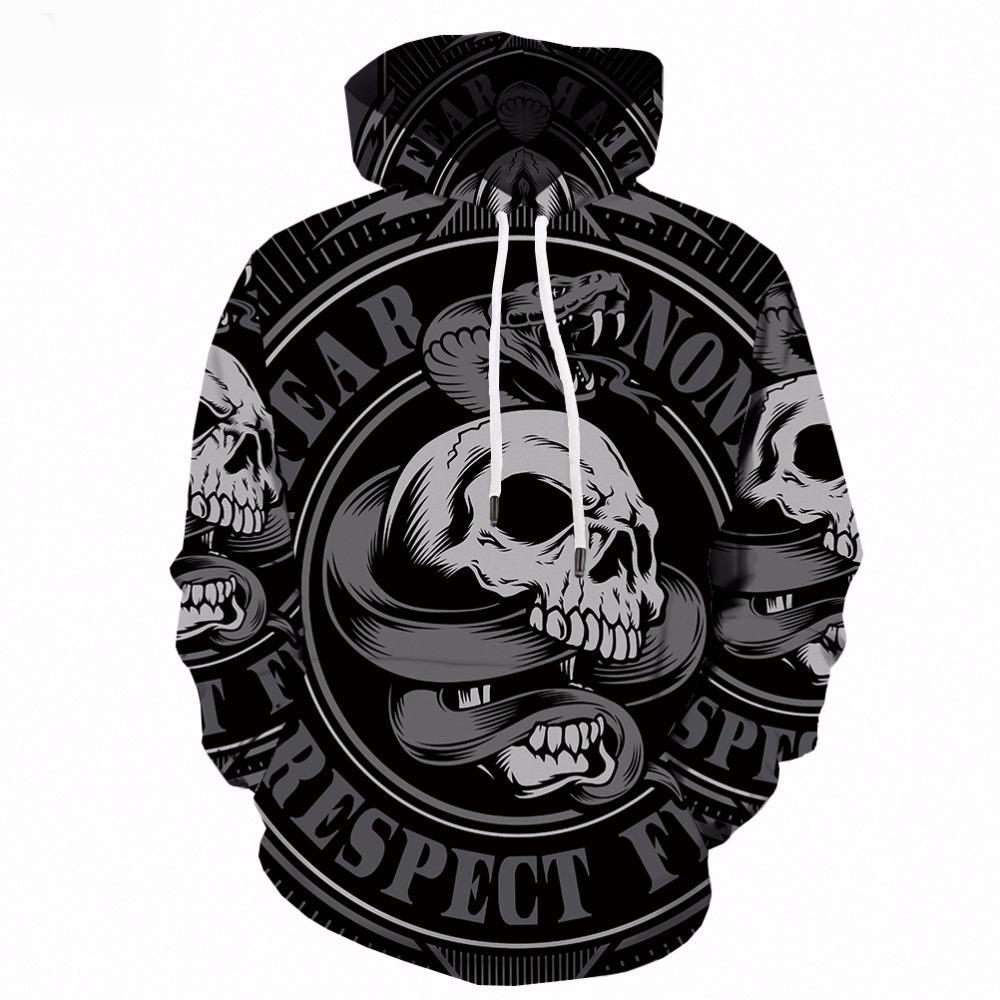 02d9c51b3139 2019 3d Hoodies Men Skull White Sweatshirt Print Man Feather Punk Rock Mens  Clothing Long Anime 3d Hoodie Streetwear Hooded New TOP2 From Beautyjewly