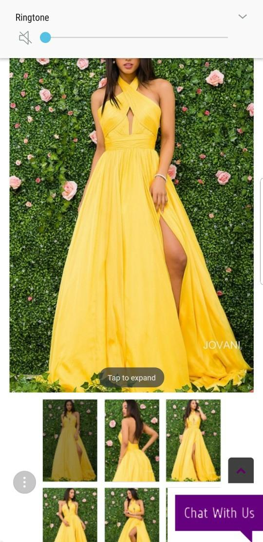 a56cad2f4d Modest Chiffon Yellow Long Prom Dresses Halter Pleated Flowy Floor Length Backless  Evening Dress Cheap Formal Party Gowns Second Hand Prom Dresses Sequin ...