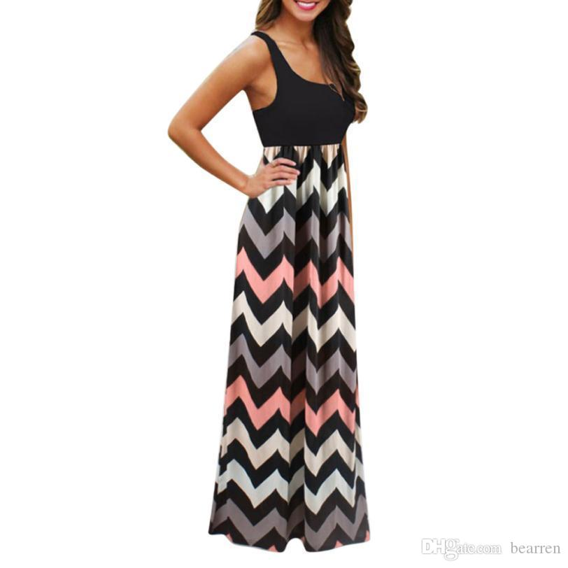 69dc7f4b35 Summer DressWomen Striped Long Boho Dress Lady Beach Summer Maxi Dress Women  2018 Vestido Mujer Online with $15.57/Piece on Bearren's Store | DHgate.com