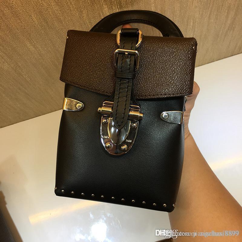 e2aa76cbb2 Women Fashion 2018 NEW Top Quality Lady Handbags Genuine Leather Handbag  Girl Hand Single One Handle Handbag Shoulder Bag MessengerTotes Designer  Purses ...