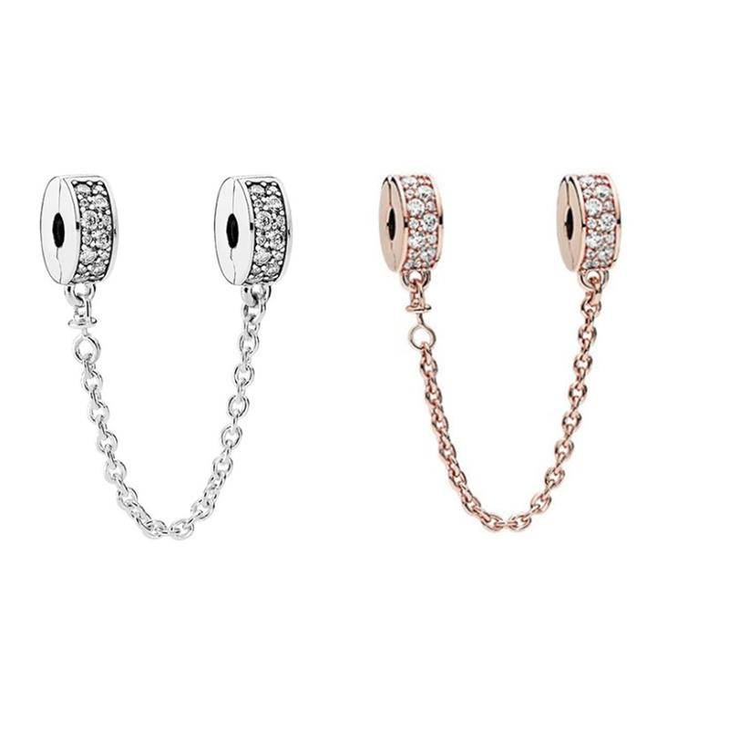 774802ff0 2019 Rose Or Silver Alloy Clip Safety Chain Fashion Women Jewelry Silver  Plated For Pandora Bracelet Charm Bead European Style From  Jewelryworldwide, ...