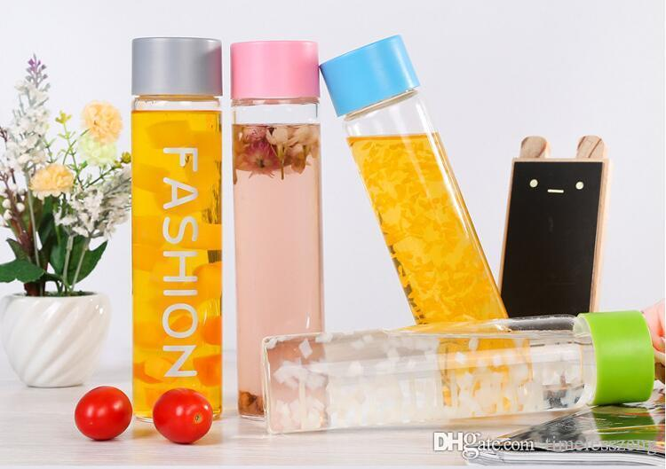 2016 New stylish Fashion water bottle glass crystal transparent high boron silicon bottle party decoration cup