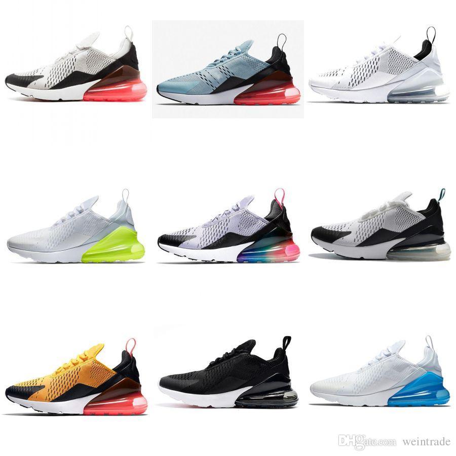 e083de55f86 270 Cushion Men Running Shoes Be True Triple White Black Tiger ...