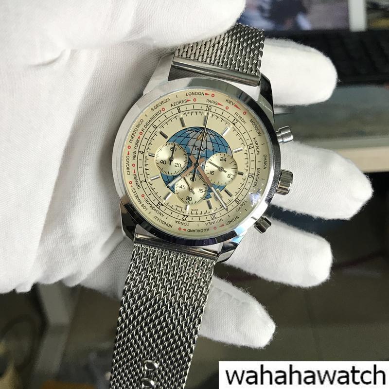 cdae3bce006c Compre Marca De Lujo Whosale Breit 1884 Reloj Para Hombre Cronógrafo  Cronógrafo De Acero Inoxidable Dial Plateado Para Hombre Relojes Para  Hombre Relojes De ...