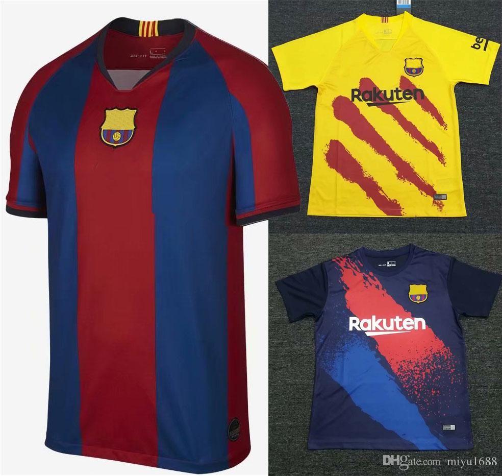 new product dde10 6a983 SENYERA FOURTH JERSEY 2019-20 Barcelona soccer jersey barça COUTINHO  A.INIESTA PIQUE MESSI SUAREZ O.DEMBELE PIQUE I.RAKITIC pre Vapor Match