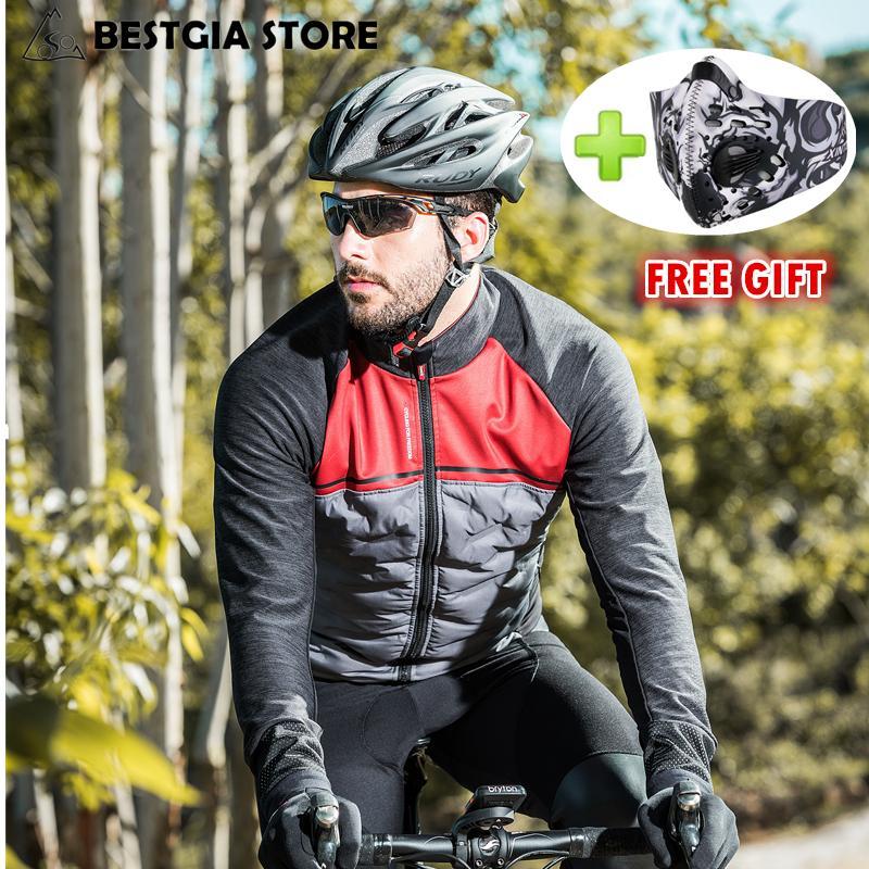 Santic 2018 New Winter Cycling Jacket Windproof Thermal Fleece Bike Jacket  Coat Men Tour De France Ultralight Down Cotton Padded Bike Shorts Cycle  Jerseys ... f7344cfa2