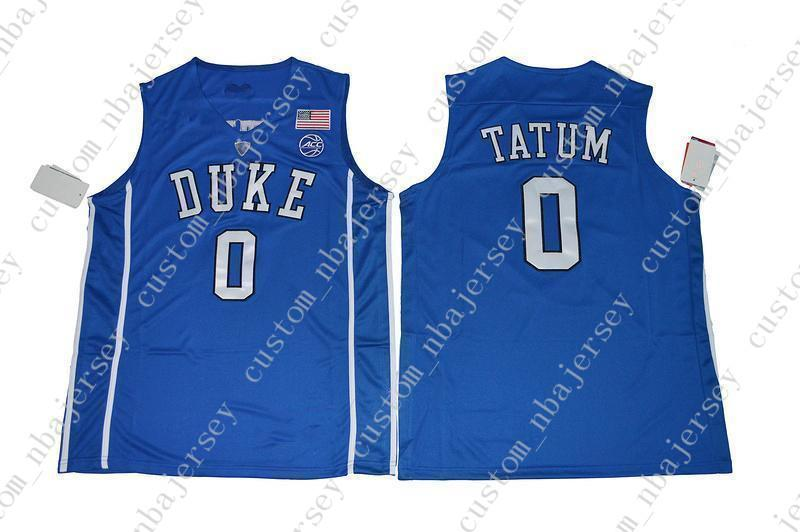 hot sale online 28075 5074f Cheap Mens Duke Blue Devils Jayson Tatum #0 College Basketball Blue  Stitched Jersey Custom any player for any name Embroidery jerseys