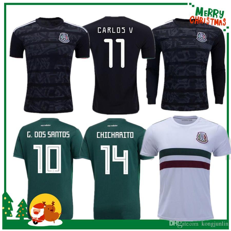 f193ae949a57 2019 Mexico 2019 H.LOZANO G.DOS SANTOS CHICHARITO Futbol Soccer Jerseys  Shirt 19 20 Mexico Gold Cup Man Woman Long Sleeve Football Jersey From  Kongjunlin