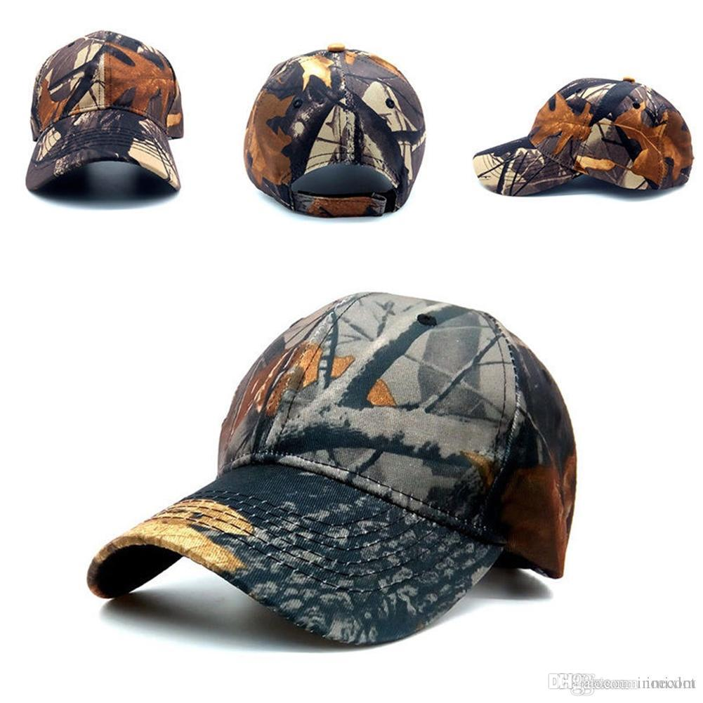 4bd4efbdf 2018 Mens Army Camo Camouflage Hats Cap Baseball Cap Men Women Camouflage  field Cap Hat In White Desert Camo